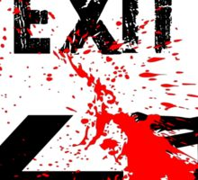 ZOMBIE EXIT SIGN by Zombie Ghetto Sticker