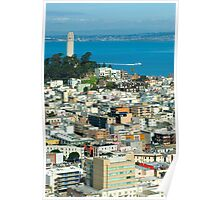 Coit Tower and downtown Poster