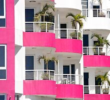 magenta balcony by richard  webb
