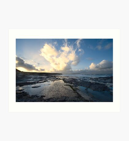 Heart of the Storm - Newtrain Bay - Cornwall Art Print