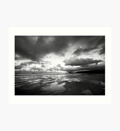 Harlyn Bay in Black and White Art Print