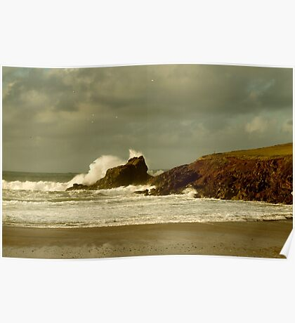 Surf Splash - Trevone Bay - Cornwall Poster