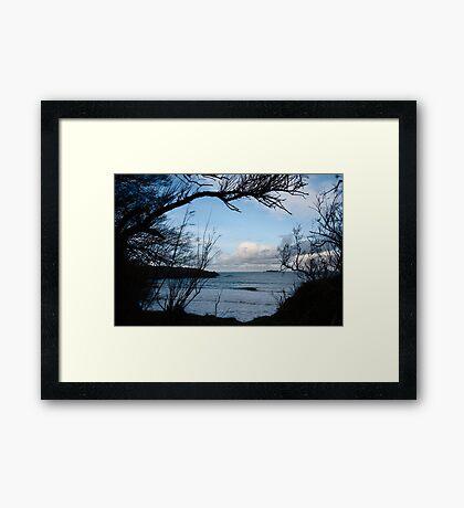 Natural Window - Harlyn Bay - Cornwall Framed Print
