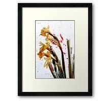 An Artist's Garden - Paints and Flowers Photograph Framed Print