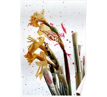 An Artist's Garden - Paints and Flowers Photograph Poster