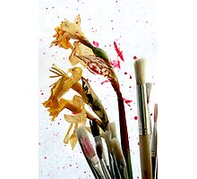 An Artist's Garden - Paints and Flowers Photograph Photographic Print