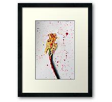 Paint-splashed Daffodil Flower Art Photograph Framed Print