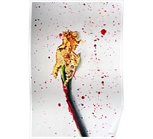 Paint-splashed Daffodil Flower Art Photograph Poster