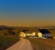 Country road, scenery and sunset   landscape photography by Patrick Jobst