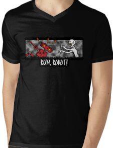 Run, Robot! Mens V-Neck T-Shirt