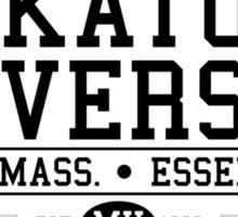 Miskatonic University - Black Sticker