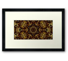 Golden Light and Shadow Framed Print