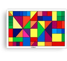 SQUARES AND TRIANGLES ARTWORK Canvas Print