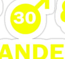 Vlaanderen Weather alt Sticker