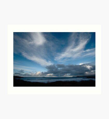 Blue Sea and Sky - Harlyn Bay, Cornwall Art Print