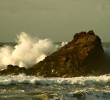 Power of the Wave -  Trevone Bay by Samantha Higgs