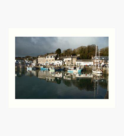 Dark Clouds - Padstow -Cornwall Art Print