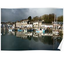 Dark Clouds - Padstow -Cornwall Poster