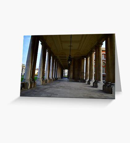 Greenwich University Hallway Greeting Card