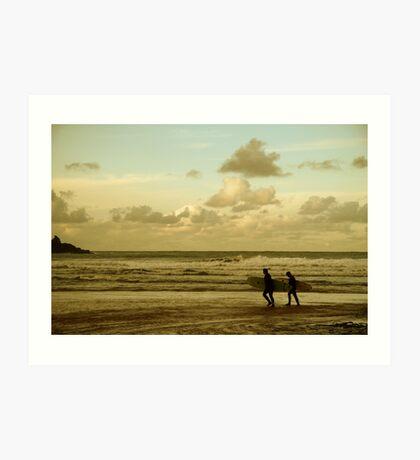 Surfers - Harlyn Bay, Cornwall Art Print