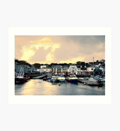 Sunset in Padstow Art Print