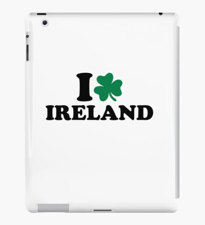 I love Ireland shamrock iPad Case/Skin