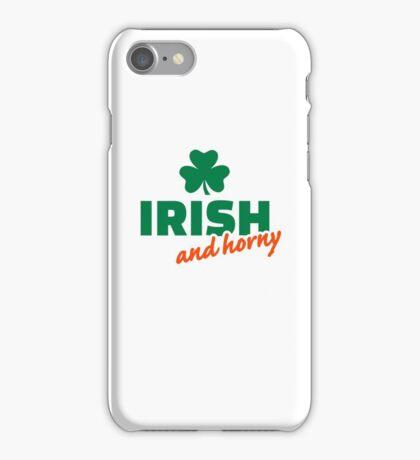Irish and horny shamrock iPhone Case/Skin