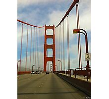 Crossing the Golden Gate Bridge Photographic Print