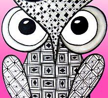 Dazzling Pink Owl by AlyssaKayArt