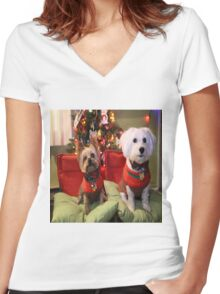 Dreo at Christmas 2015 Women's Fitted V-Neck T-Shirt