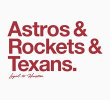 Loyal to Houston (Red Print) by smashtransit