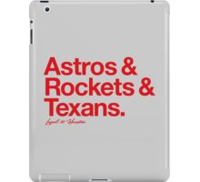 Loyal to Houston (Red Print) iPad Case/Skin