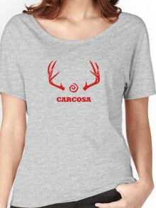 True Detective - Carcosa Antlers - Red Women's Relaxed Fit T-Shirt