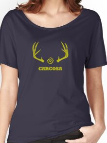 True Detective - Carcosa Antlers - Yellow Women's Relaxed Fit T-Shirt