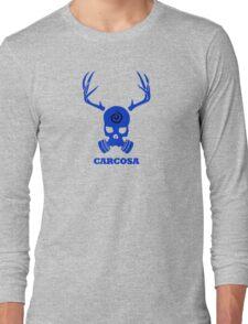True Detective - Carcosa Gas Mask - Blue Long Sleeve T-Shirt