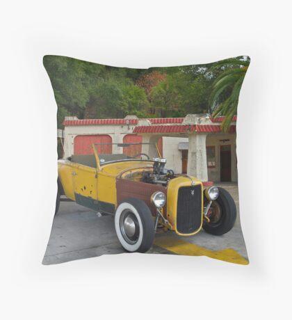 1930 Ford 'Original Hot Rod' Roadster Throw Pillow