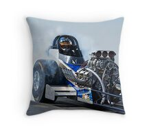 Top Fuel 'Nitro Nostalgia' Dragster Throw Pillow
