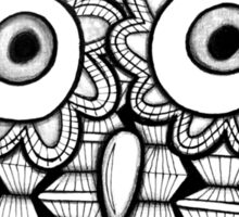 Bright Blue Zentangle Owl Sticker