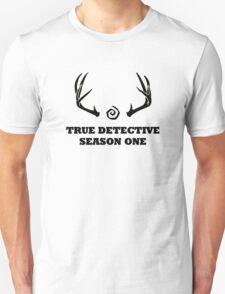 True Detective - Season One Antlers - Black T-Shirt