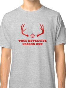 True Detective - Season One Antlers - Red Classic T-Shirt
