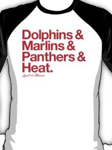 Loyal to Miami (Red Print) T-Shirt