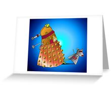 K9 vs Dalek Greeting Card