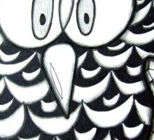 Purple Zentangle Owl Sticker