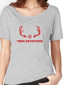 True Detective - Antlers - Red Women's Relaxed Fit T-Shirt