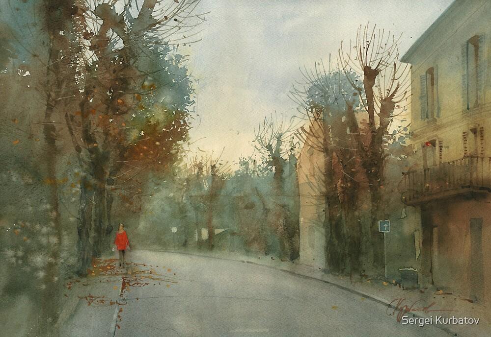 A little optimism in autumn evening by Sergei Kurbatov