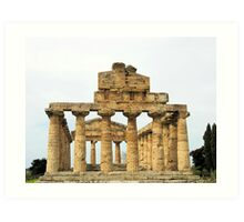 Temple Of Hera - Paestum Art Print