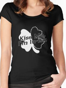 Kiss Me, I'm Ir-ish White Women's Fitted Scoop T-Shirt
