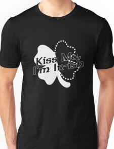 Kiss Me, I'm Ir-ish White Unisex T-Shirt