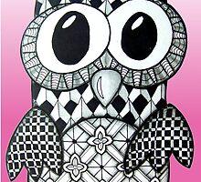 Confused Owl by AlyssaKayArt