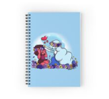 Ruby and Sapphire - Flower Crown Spiral Notebook
